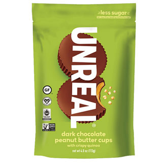 Unreal Crispy Dark Chocolate Peanut Butter Cups- Large Bag MAIN