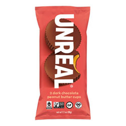 Unreal Dark Chocolate Peanut Butter Cups - 2 pack THUMBNAIL
