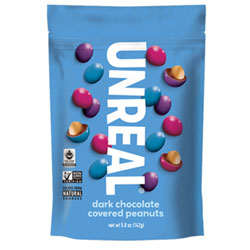 Unreal Dark Chocolate Peanut Gems - 5 oz. Large Bag THUMBNAIL