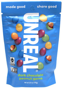 Unreal Dark Chocolate Peanut Gems - 6 oz. bag_LARGE