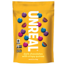 Unreal Dark Chocolate Crispy Quinoa Gems- Large Bag THUMBNAIL