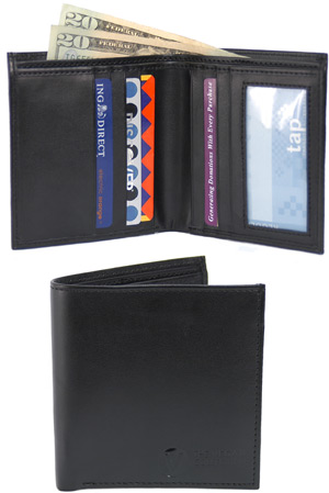 Traveler Bi-Fold Wallet by The Vegan Collection LARGE