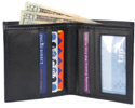Traveler Bi-Fold Wallet by The Vegan Collection THUMBNAIL