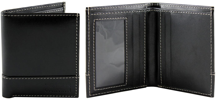 Coleman Bi-Fold Wallet by The Vegan Collection - Black