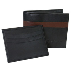 Garnett Bi-Fold Wallet by The Vegan Collection - Black THUMBNAIL