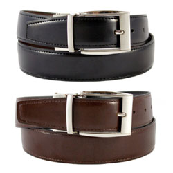"Julian Reversible Belt by The Vegan Collection - XL (38"") THUMBNAIL"