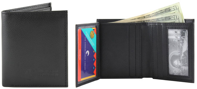 Kendrick Bi-Fold Wallet by The Vegan Collection - Black
