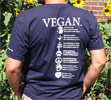 Vegan Compassion Organic Cotton T-Shirt by NonviolenceUnited.org - Blue