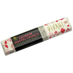 Vivani Organic White Chocolate Strawberry Wafer Bar THUMBNAIL