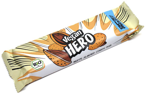 Organic White Almond Chocolate Hero Bar by Vantastic Foods