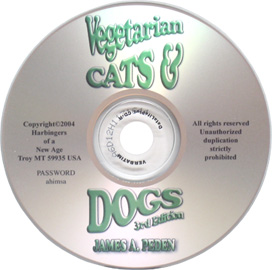 Vegetarian Cats & Dogs DVD-ROM by James A. Peden