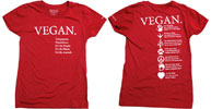 Vegan Compassion Organic Cotton T-Shirt by NonviolenceUnited.org - Red