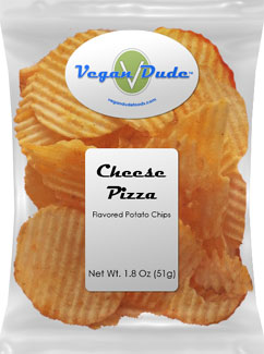 Vegan Cheese Pizza Potato Chips by Vegan Dude