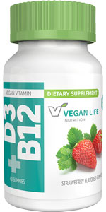 Vegan Vitamin D3 and B12 Gummies by Vegan Life Nutrition