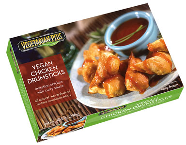 Vegan Chicken Drumsticks by Vegetarian Plus
