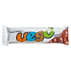 Vego Whole Hazelnut Chocolate Bar - Large 150g size THUMBNAIL