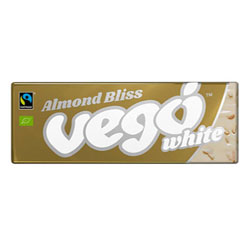 Vego Organic Almond Bliss White Chocolate Bar THUMBNAIL