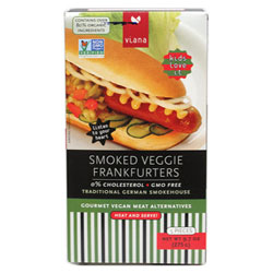 "Smoked Veggie Frankfurters by Viana (Has a ""Best By"" date of 8-29-2020) THUMBNAIL"