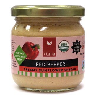 Viana Organic Creamy Sunflower Spread - Red Pepper MAIN