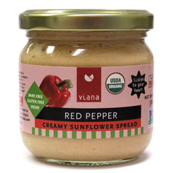 Viana Organic Creamy Sunflower Spread - Red Pepper THUMBNAIL