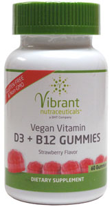 Vegan Vitamin D3 and B12 Gummies by Vibrant Nutraceuticals
