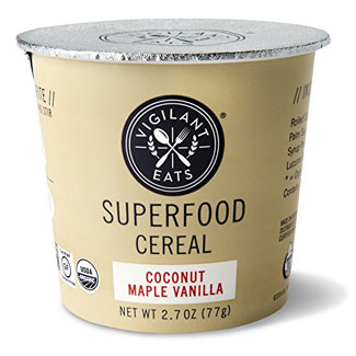 Organic Superfood Cereal Cup by Vigilant Eats - Coconut Maple Vanilla MAIN