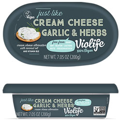 Violife Just Like Cream Cheese Spreads - Garlic & Herbs THUMBNAIL