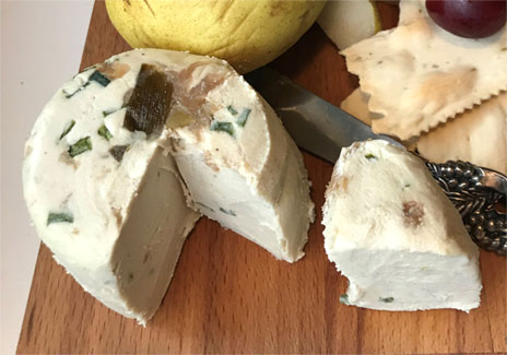 Virgin Cheese Organic Artisan Vegan Shallot Truffle Cheese