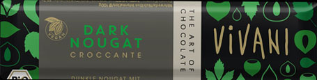 Vivani Organic Dark Nougat & Hazelnut Brittle Chocolate Bar