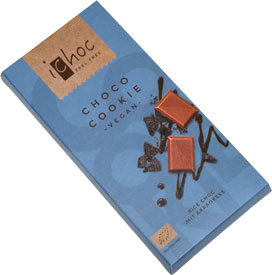 iChoc Organic Ricemilk & Cookie Chocolate Bar