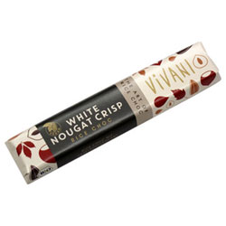 White Chocolate Nougat Crisp bar by Vivani THUMBNAIL