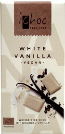 iChoc Organic White Vanilla Bean Chocolate Bar
