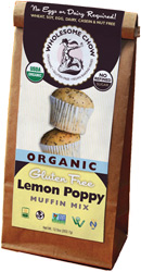 Organic Gluten-Free Lemon Poppy Muffin Mix by Wholesome Chow