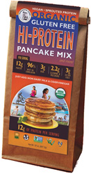 Organic Gluten-Free Hi-Protein Pancake Mix by Wholesome Chow