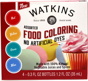Watkins Vegan Food Coloring Set
