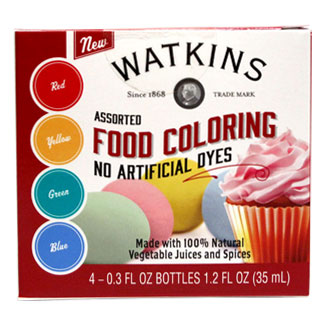 Watkins Natural Food Coloring Set MAIN