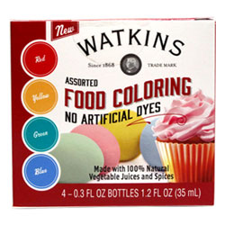 Watkins Natural Food Coloring Set THUMBNAIL