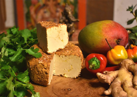 Taste of India Artisan Cashew Vegan Cheese by Wendy's Nutty Cheese_LARGE