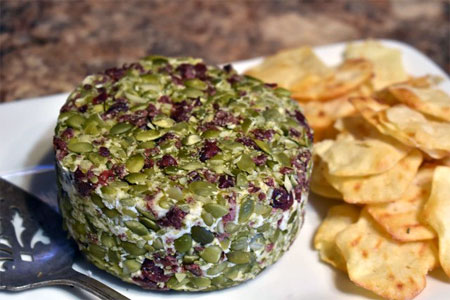 Cranberry Pumpkinseed Chèvre Artisan Cashew Vegan Cheese by Wendy's Nutty Cheese