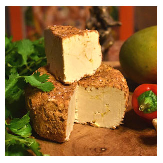 Taste of India Artisan Cashew Vegan Cheese by Wendy's Nutty Cheese LARGE