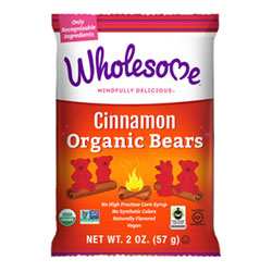 Organic Cinnamon Bears Gummy Candies by Wholesome THUMBNAIL