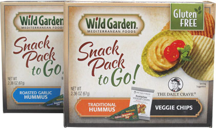 Hummus Snack Packs to Go! by Wild Garden