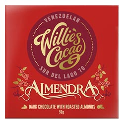 Willie's Cacao Almendra Dark Chocolate Bar with Roasted Almonds THUMBNAIL
