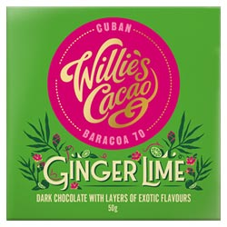 Willie's Cacao Ginger Lime Dark Chocolate Bar THUMBNAIL