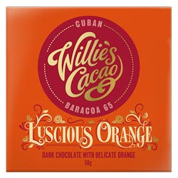 Willie's Cacao Luscious Orange Dark Chocolate Bar THUMBNAIL
