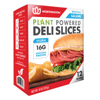 Worthington Plant-Powered Meatless Salami Deli Slices MAIN