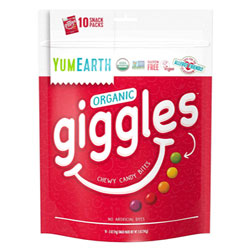Giggles Organic Chewy Candy Bites by Yum Earth - 5 snack pack bag THUMBNAIL