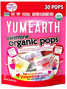 Yum Earth Organic Valentine Lollipops