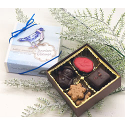 Chocolate Tidings Organic 4 Piece Holiday Assortment by Divine Treasures THUMBNAIL