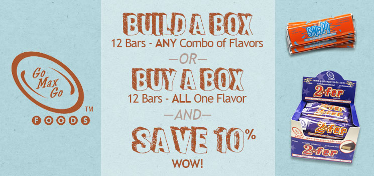 Go Max Go Bars Save 10%